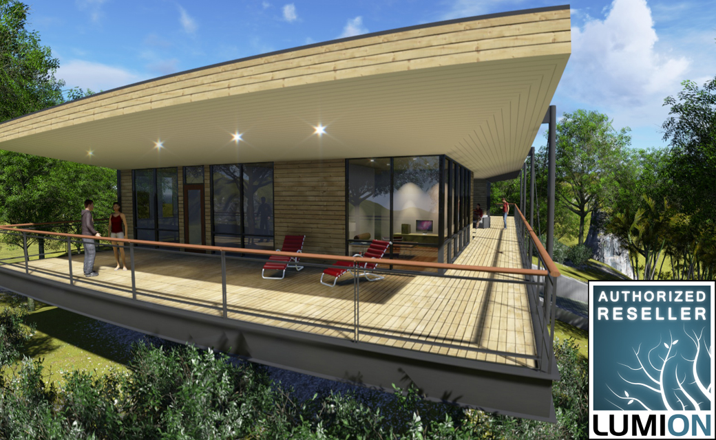 Lumion 3d for revit revit training london for Revit architecture modern house design 1